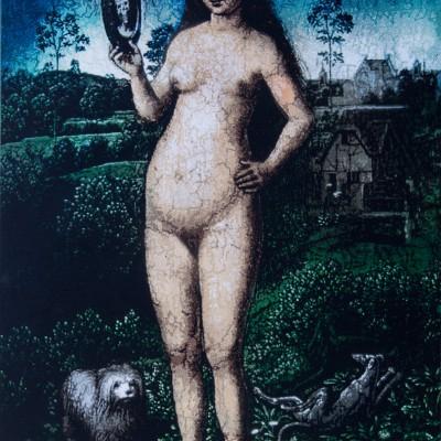 Hans Memling Earthy.Vanity –  woman