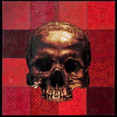 Skull Mosaic – red