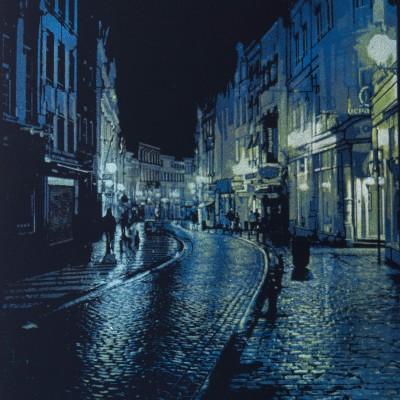 Brussels Cobblestones – Blue/Green